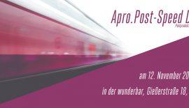 Speed Dating beim Postproduktionsstammtisch Apro.Post am 12. November 2019 in Leipzig.