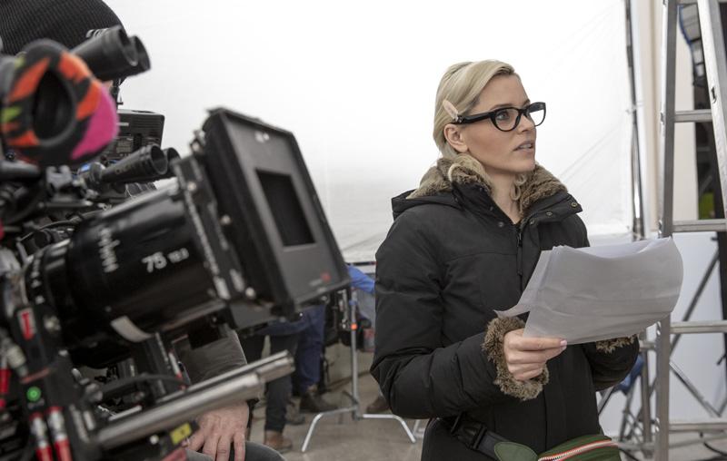 Regisseurin Elizabeth Banks am Set von Drei Engel für Charlie