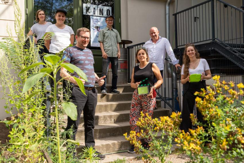 """Gruppenfoto beim Panel """"Grünes Drehen"""" im Rahmen des Kurzsuechtig 2020"""
