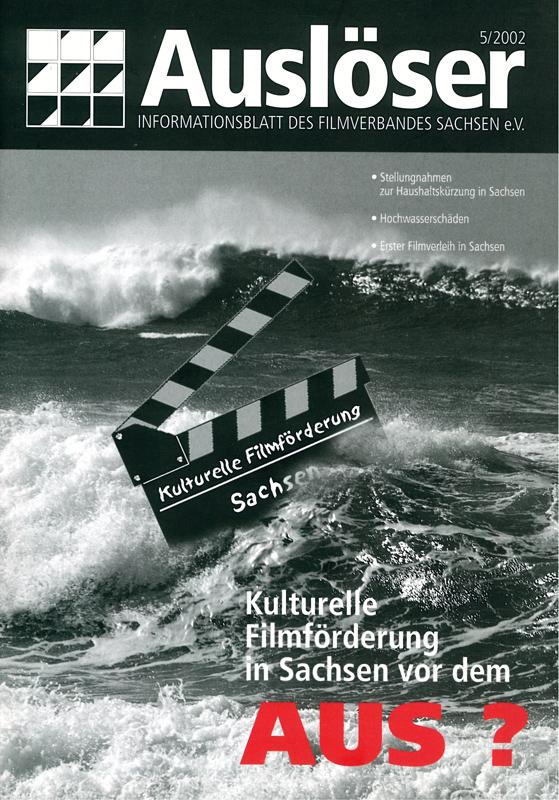 """""""Kulturelle Filmförderung vor dem Aus?"""" Cover des Auslöser 5/2002"""