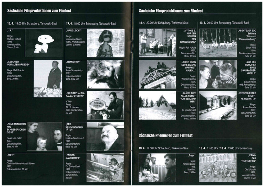 Sächische Filmproduktionen beim Filmfest Dresden 1998